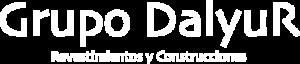 Logo de Grupo Dalyur en color blanco